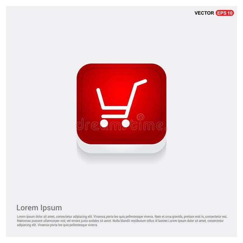 shopping för serie för vagnssymbol röd royaltyfri illustrationer