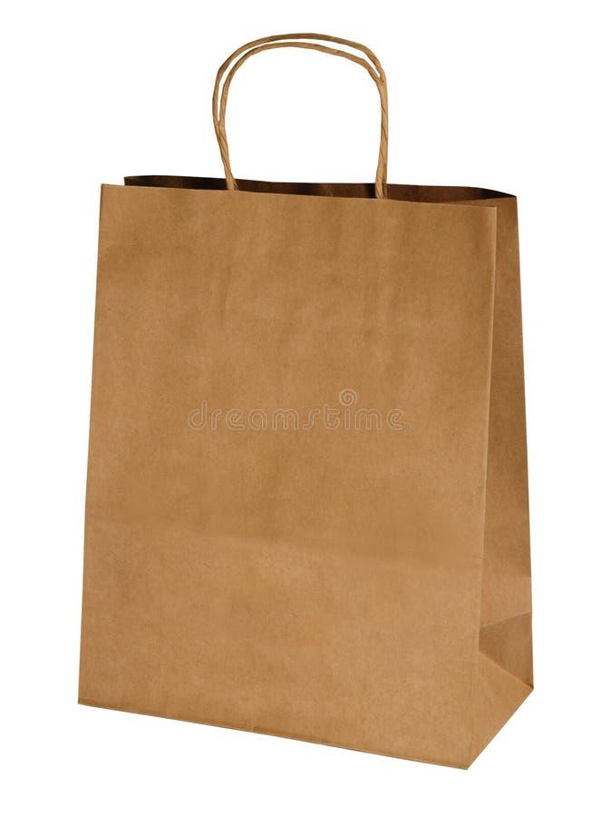shopping för påsekraft papper arkivbild