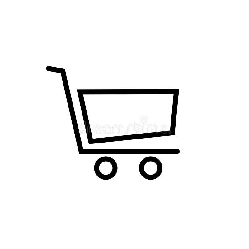 shopping f?r serie f?r vagnssymbol r?d ocks? vektor f?r coreldrawillustration royaltyfri illustrationer