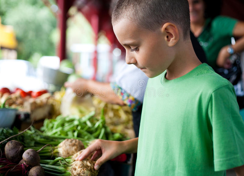 Download Shopping at farmers market stock image. Image of people - 17230973