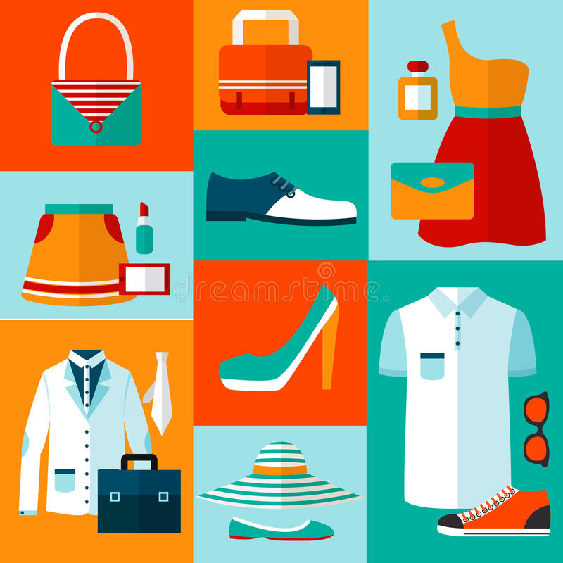 Download Shopping Fashion Design Elements Stock Vector - Illustration of collection, footwear: 39503069