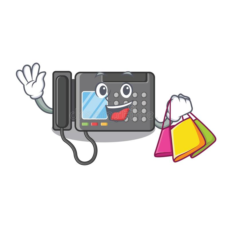 Shopping fax machine in the character shape. Vector illustration vector illustration