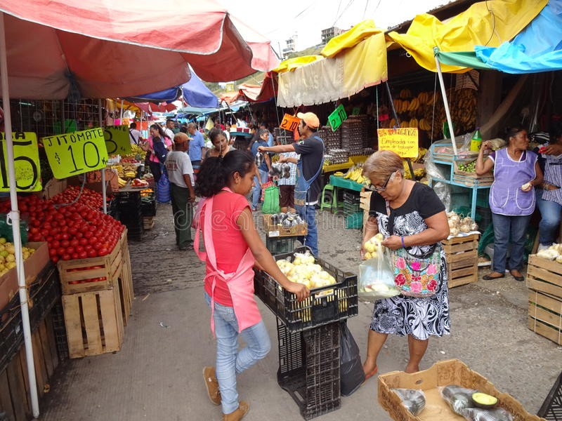 Shopping for food in Guerrero Mexico stock photography
