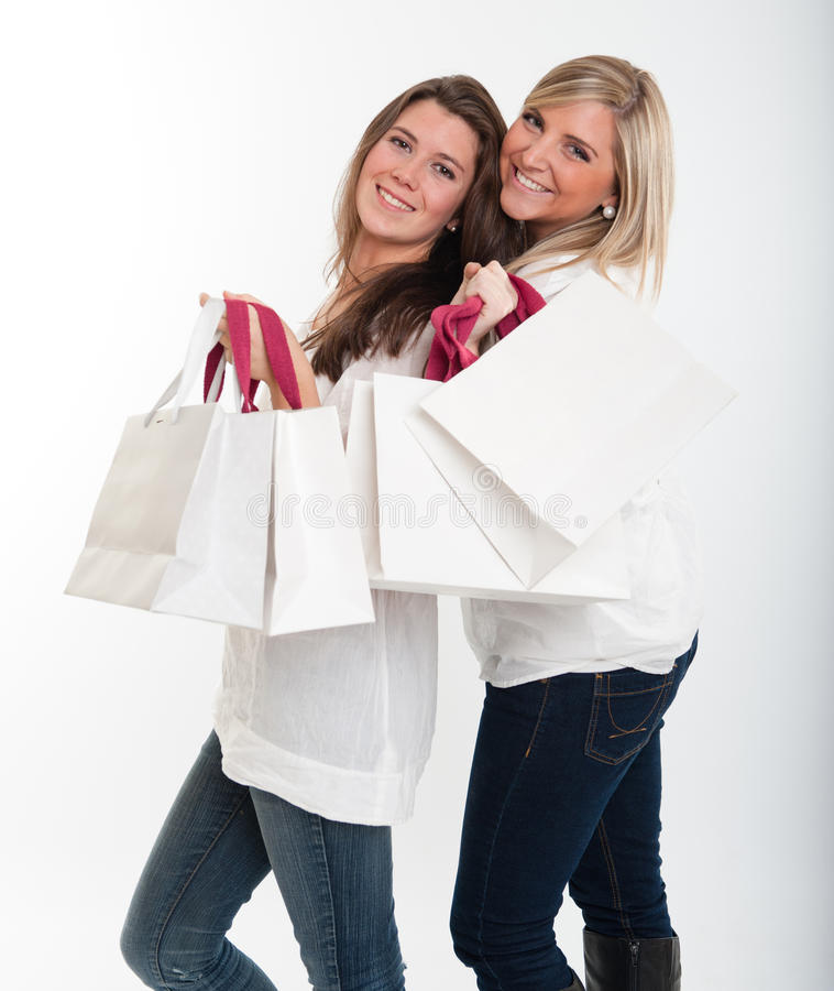 Download Shopping friends stock image. Image of young, attractive - 27423887