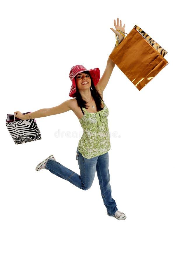Shopping fun stock photos