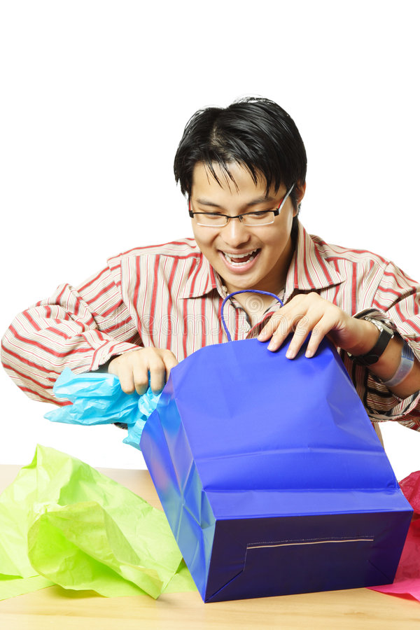 Shopping gifts stock images
