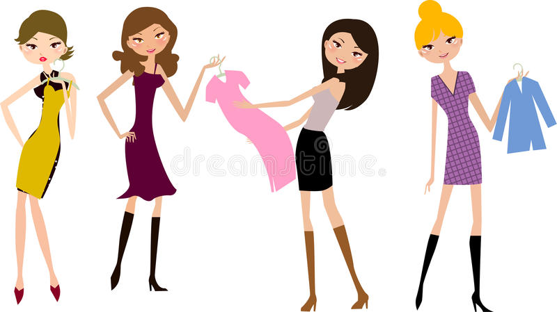 Download Shopping girl stock vector. Image of purchasing, fashion - 12083161