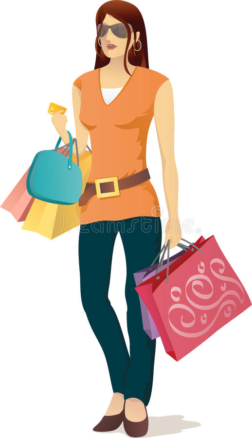 Shopping Girl Royalty Free Stock Images