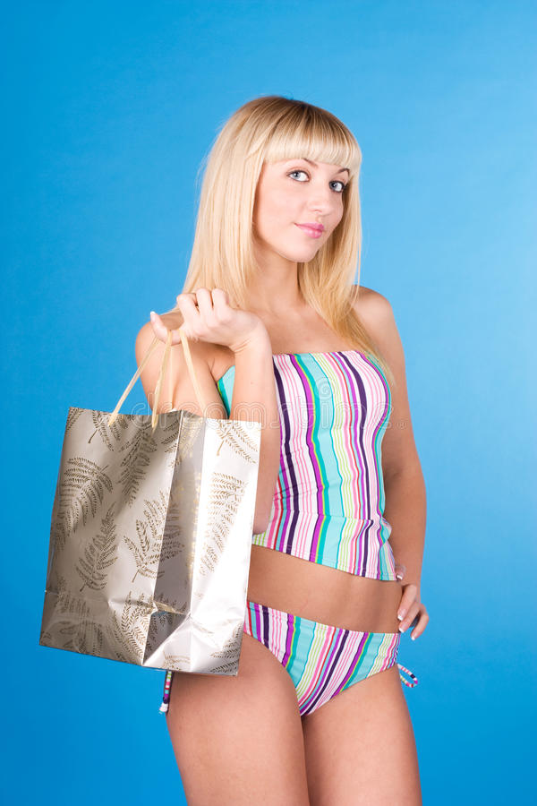 Free Shopping Girl Royalty Free Stock Images - 14550179