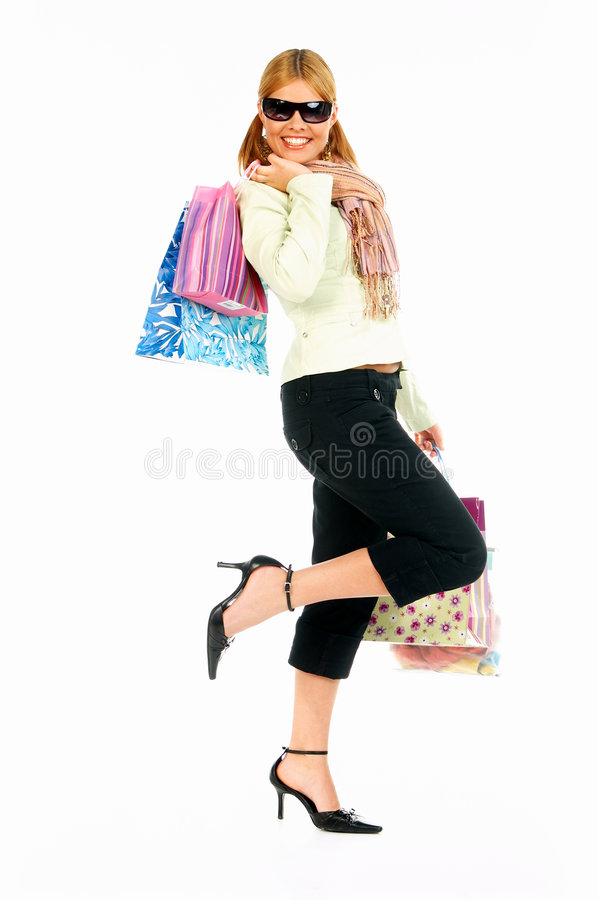 Download Shopping Girl 2 stock photo. Image of glamour, financial - 806444