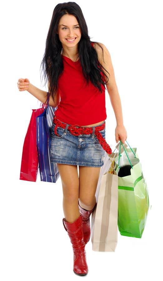 Shopping girl royalty free stock photo