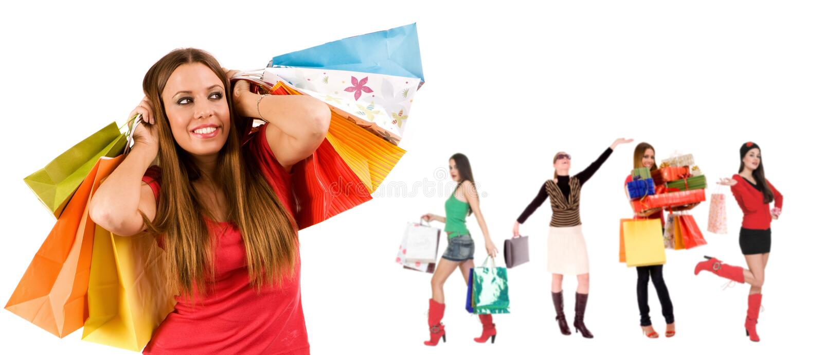 Download Shopping girl stock photo. Image of happiness, christmas - 6854332