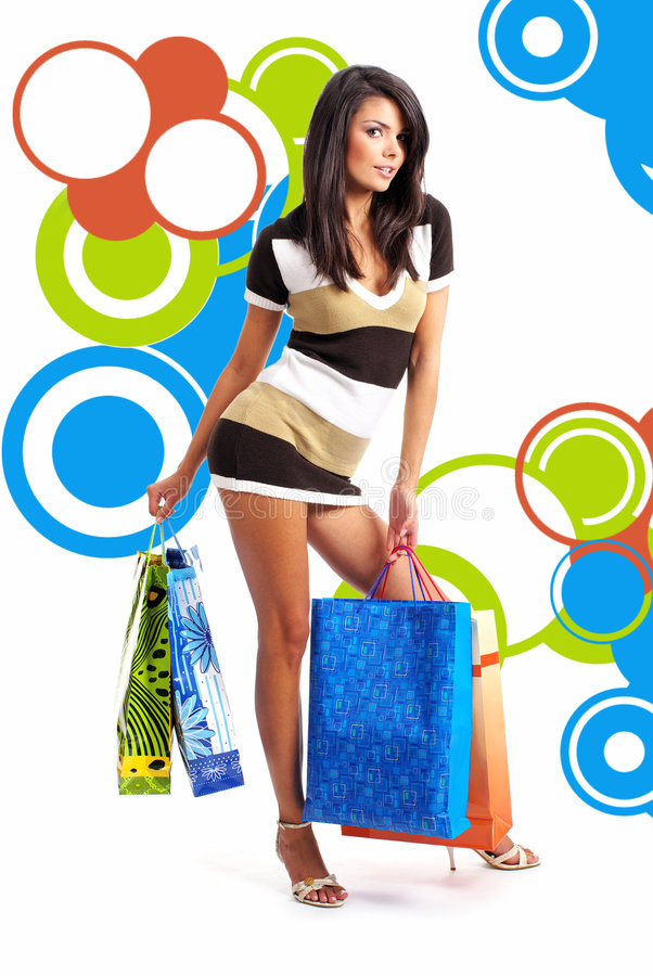 Free Shopping Girl Royalty Free Stock Photo - 7195725