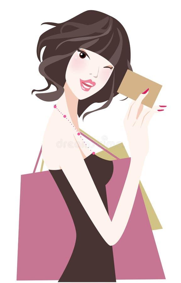 Free Shopping Girl Royalty Free Stock Photos - 8117828