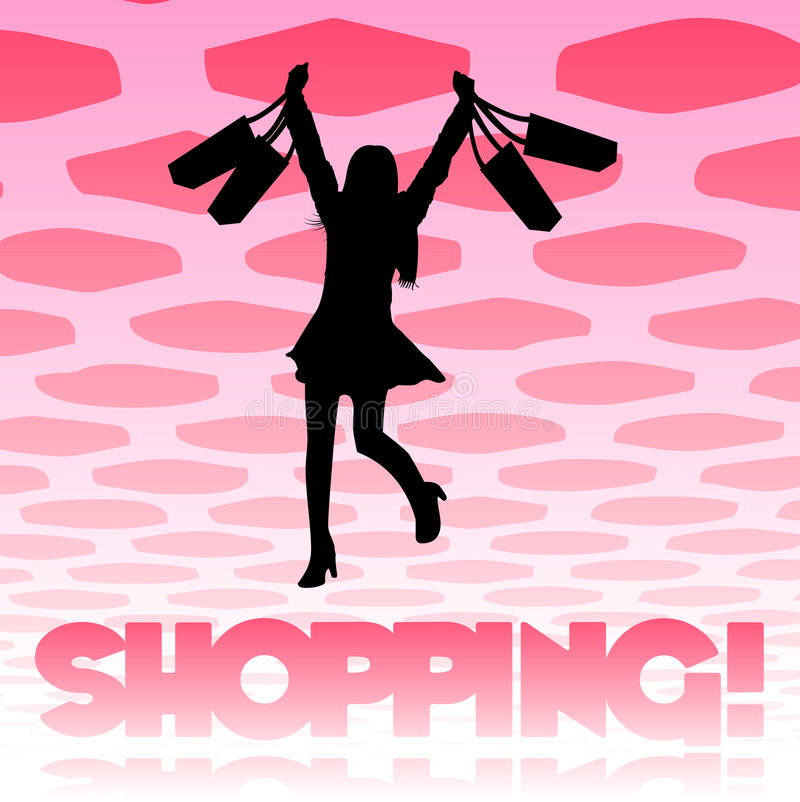 Free Shopping Girl Background Royalty Free Stock Photography - 8003667