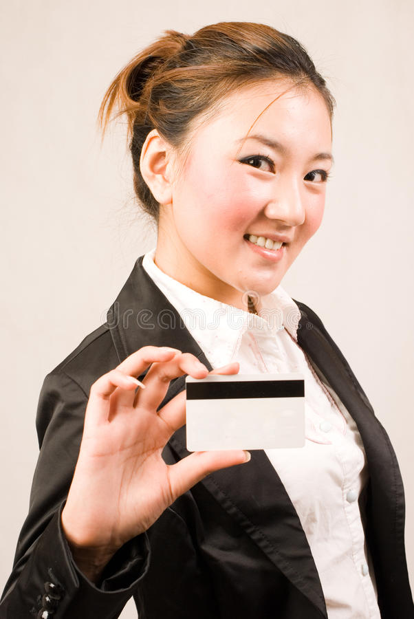 Download Shopping girl with card stock photo. Image of market - 10841966