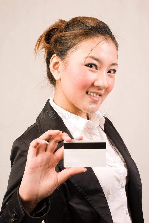 Download Shopping girl with card stock photo. Image of money, buying - 10841994