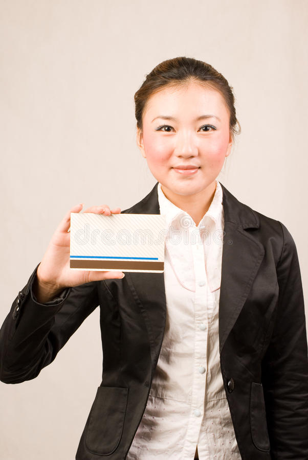 Download Shopping girl with card stock photo. Image of china, rich - 10856098