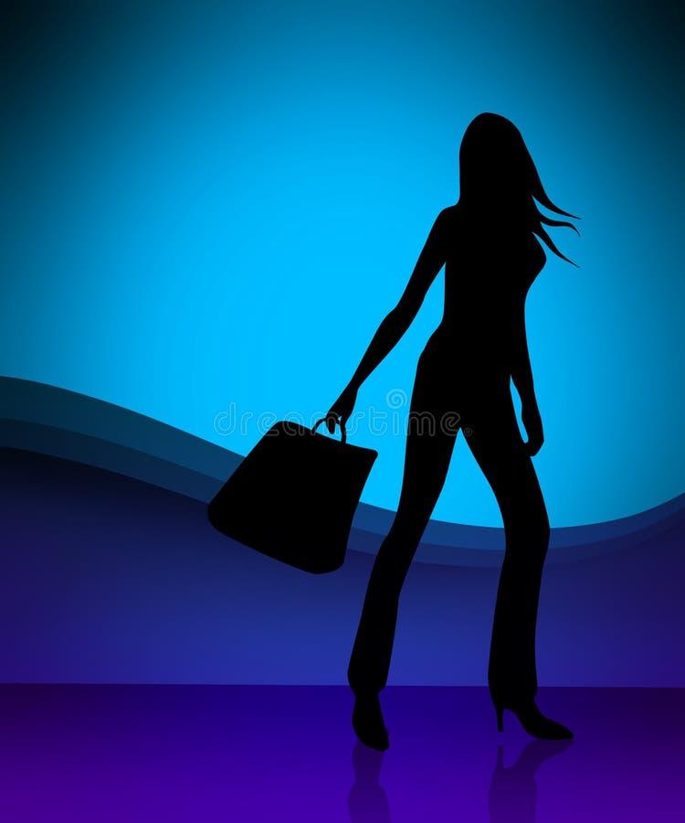 Download Shopping girl illustration stock illustration. Image of market - 2528629