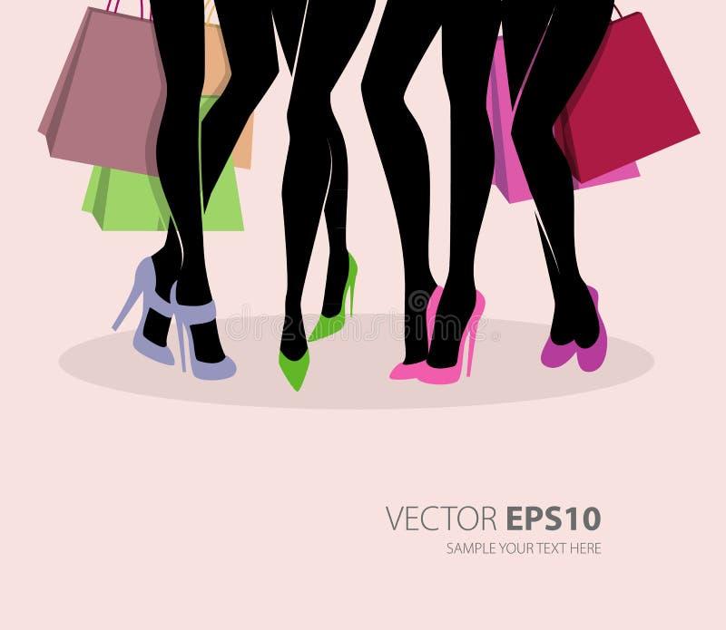 Shopping Girls Stock Photo