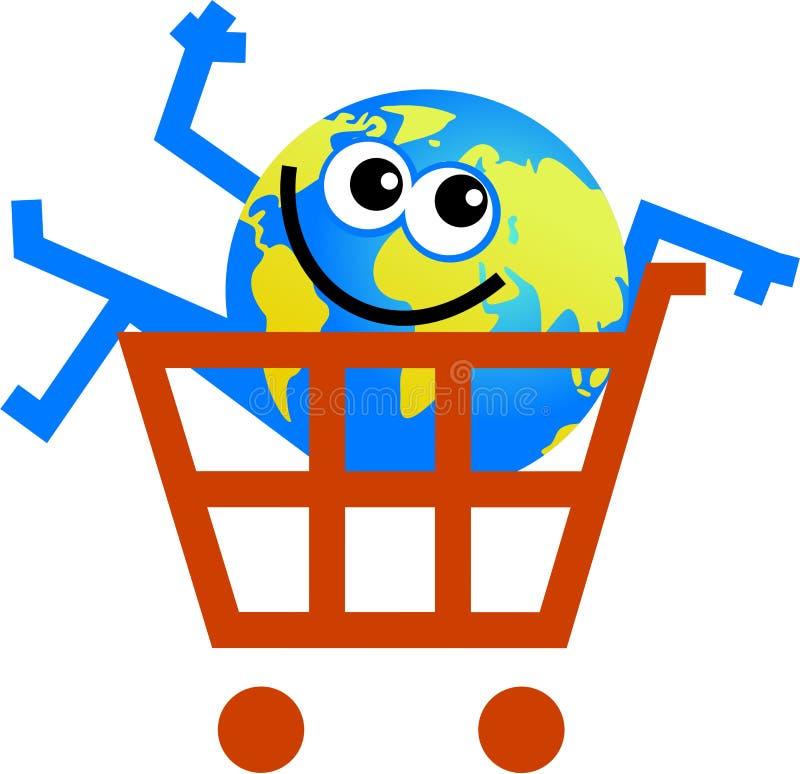 Shopping globe vector illustration