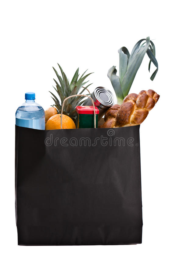 Download Shopping for Groceries stock image. Image of black, isolated - 20044007