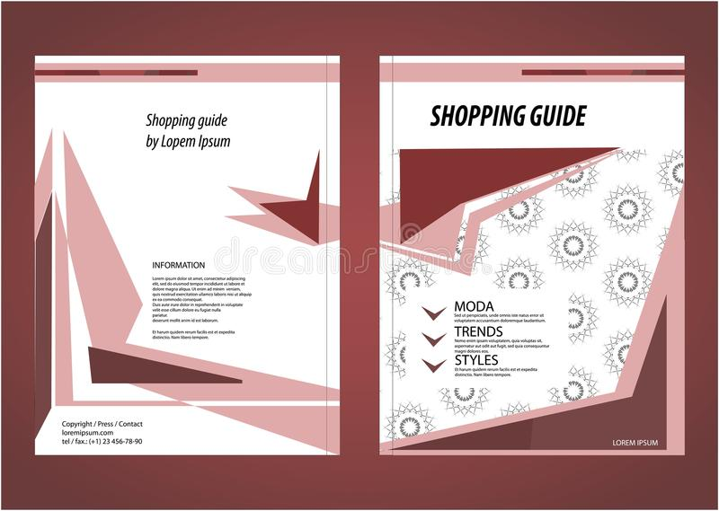 Shopping Guide Template. Bordo, Red And Crimson Colours. Stock ...