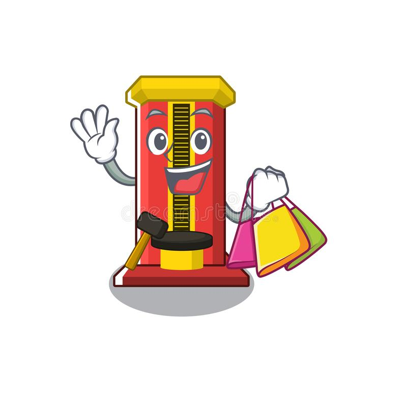 Shopping hammer game machine in the cartoon. Vector illustration royalty free illustration
