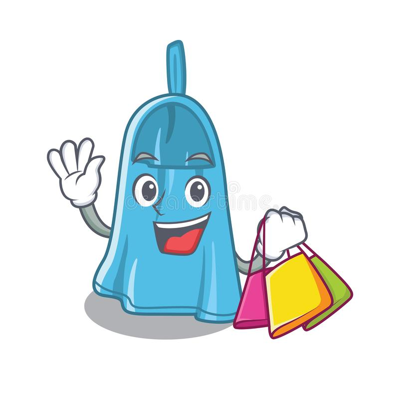 Shopping hand towel with the character shape vector illustration