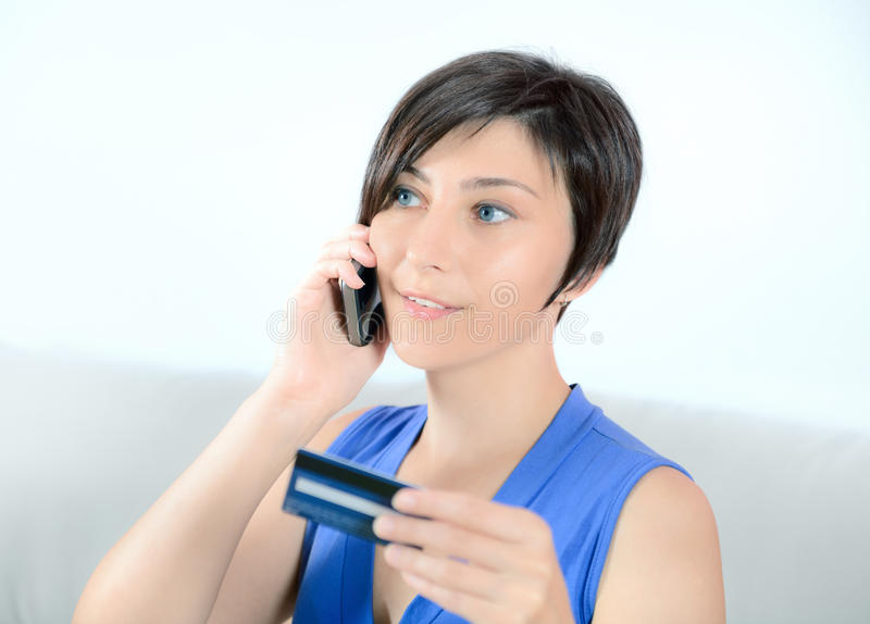 Download Shopping from home stock image. Image of communication - 26297773