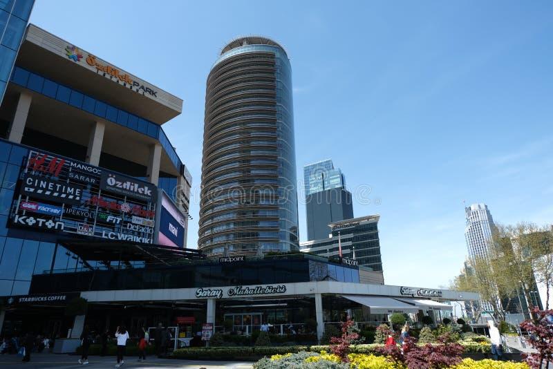 Shopping, hot?is e residentials em Levent, Istambul em Turquia Cidade, escritório fotografia de stock