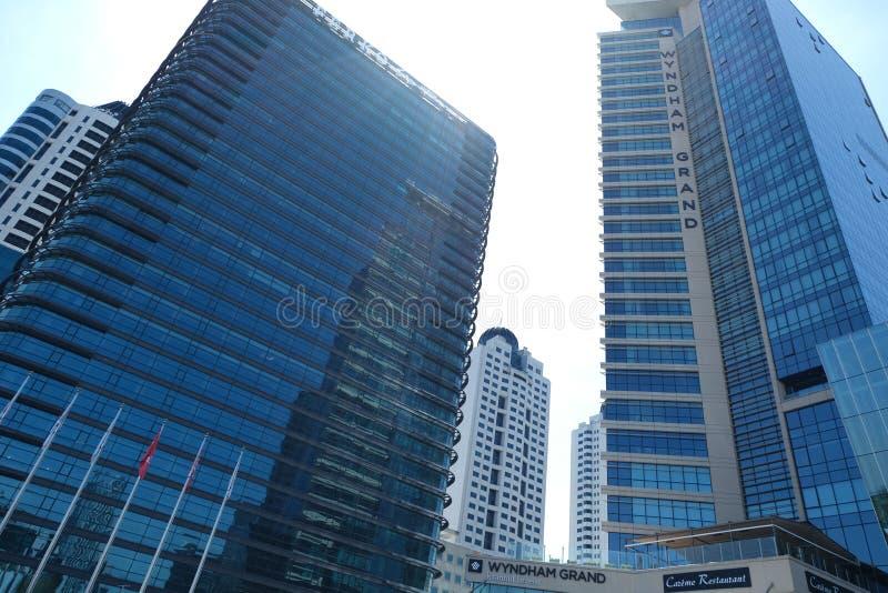 Shopping, hot?is e residentials em Levent, Istambul em Turquia Cidade, escrit?rio fotos de stock