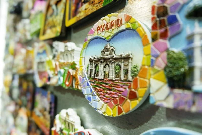 Shopping i Madrid - gå runt om staden arkivbilder