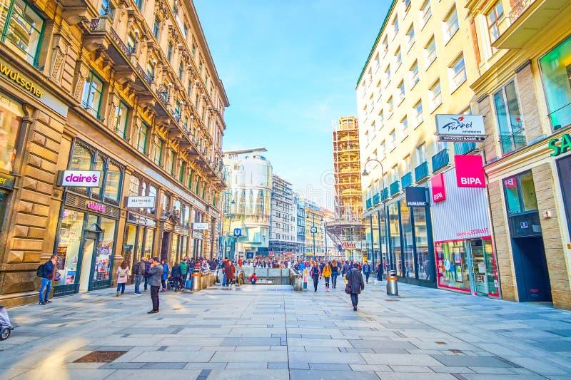 Shopping i Wien, Österrike royaltyfri bild