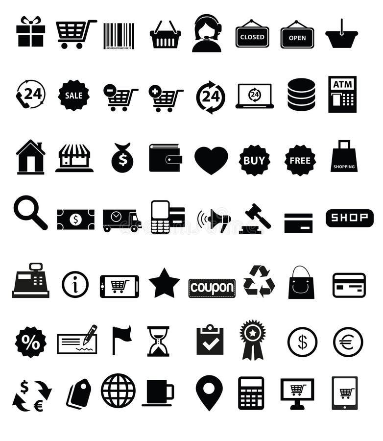 Shopping icon set stock illustration