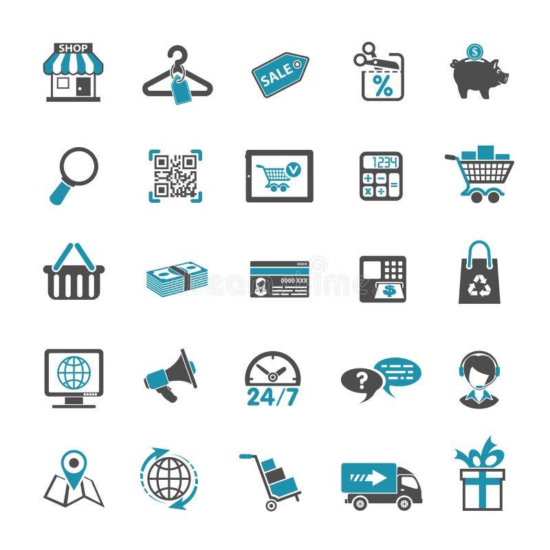 Shopping Icon Set royalty free illustration