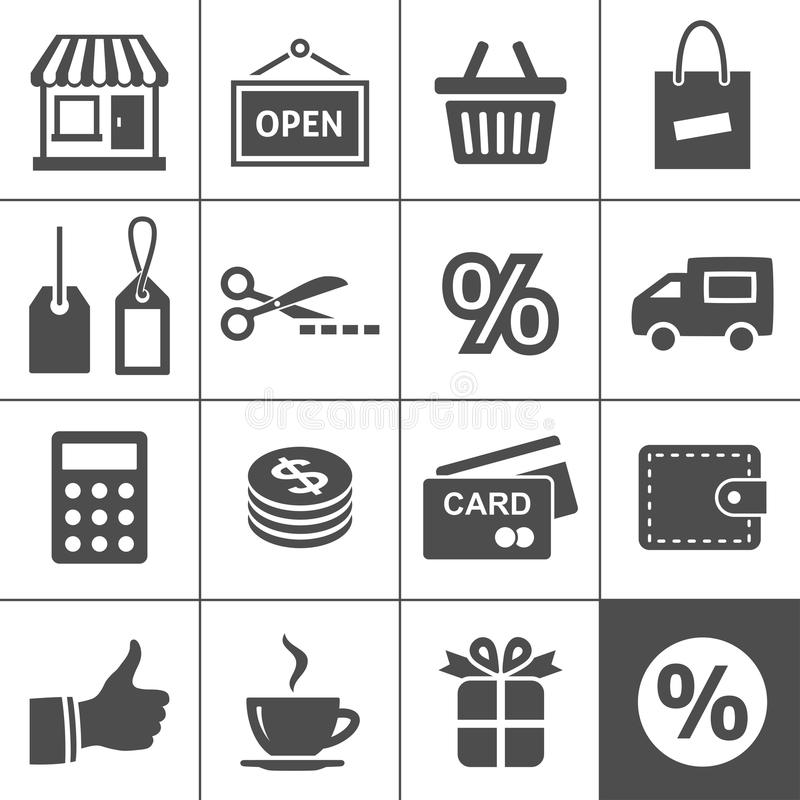 Download Shopping Icons Set - Simplus Series Stock Vector - Image: 30013363