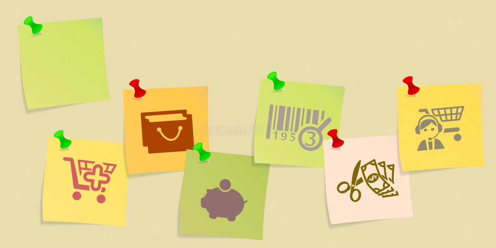 Download Shopping stock illustration. Image of bars, concept, e - 33099556