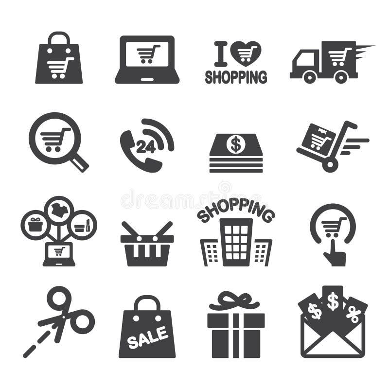 Shopping icon. Web icon illustration design vector sign symbol stock illustration