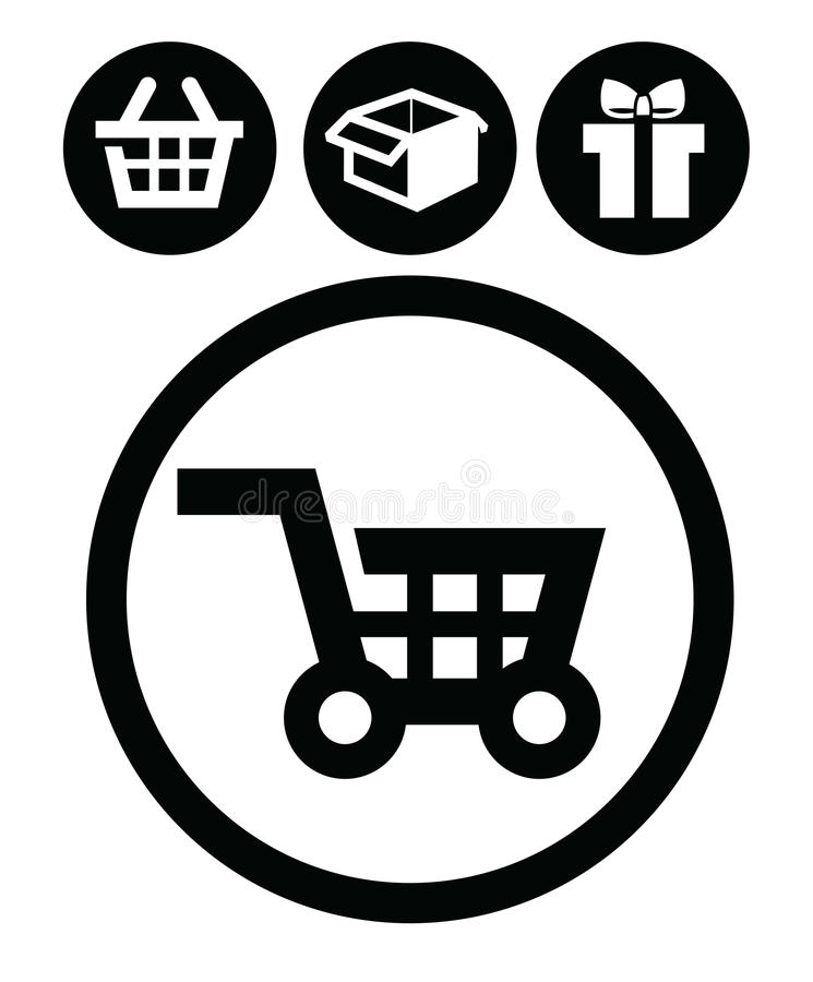 Download Shopping icons stock vector. Image of graphics, banner - 28826269