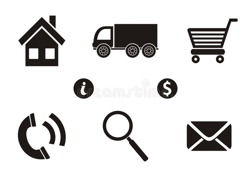 Download Shopping icons stock vector. Illustration of basket, online - 39515359