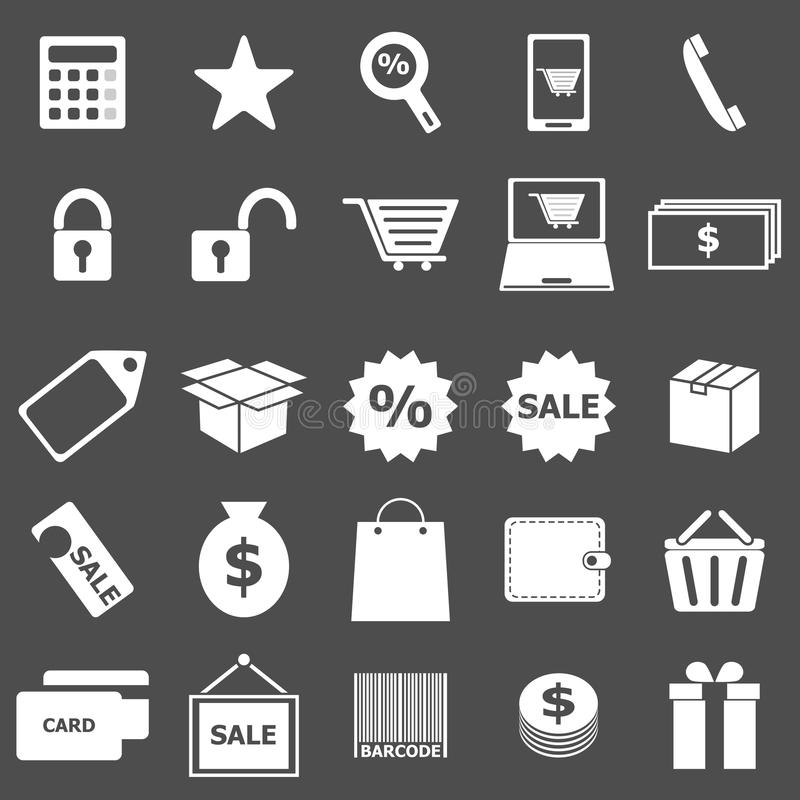 Download Shopping Icons On Gray Background Stock Vector - Image: 33550358