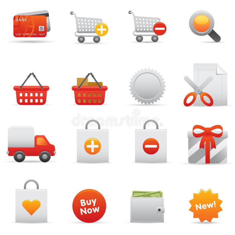Shopping Icons   Red 13 stock illustration