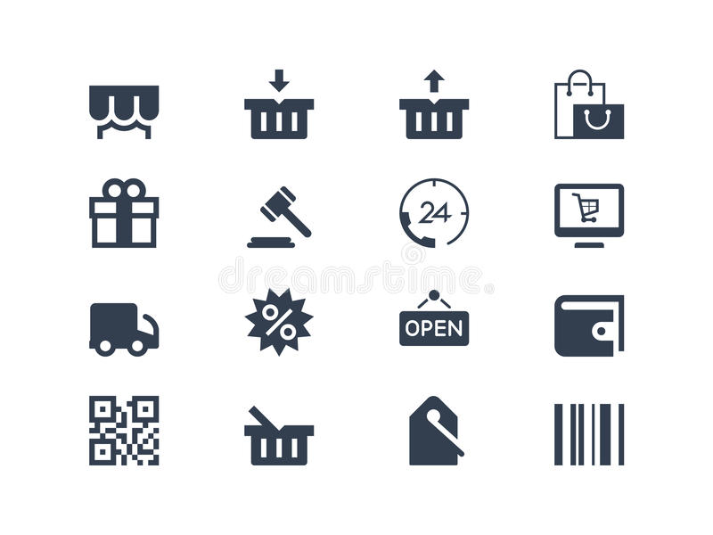 Shopping icons vector illustration