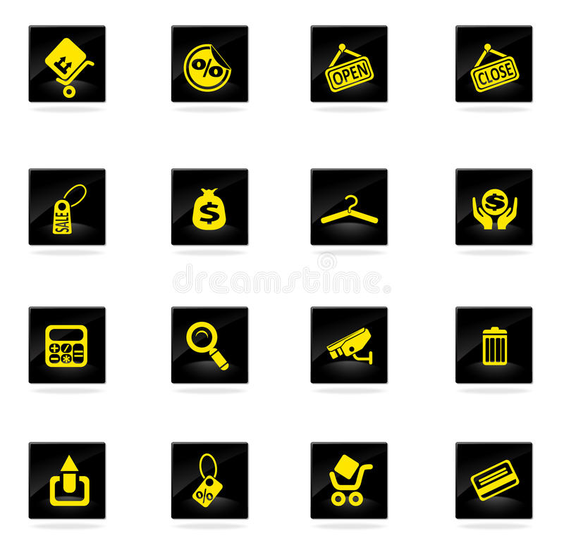 Shopping icons set. Shopping vector icons for web sites and user interface vector illustration