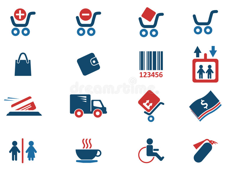 Shopping icons. Shopping simply symbols for web and user interface stock illustration