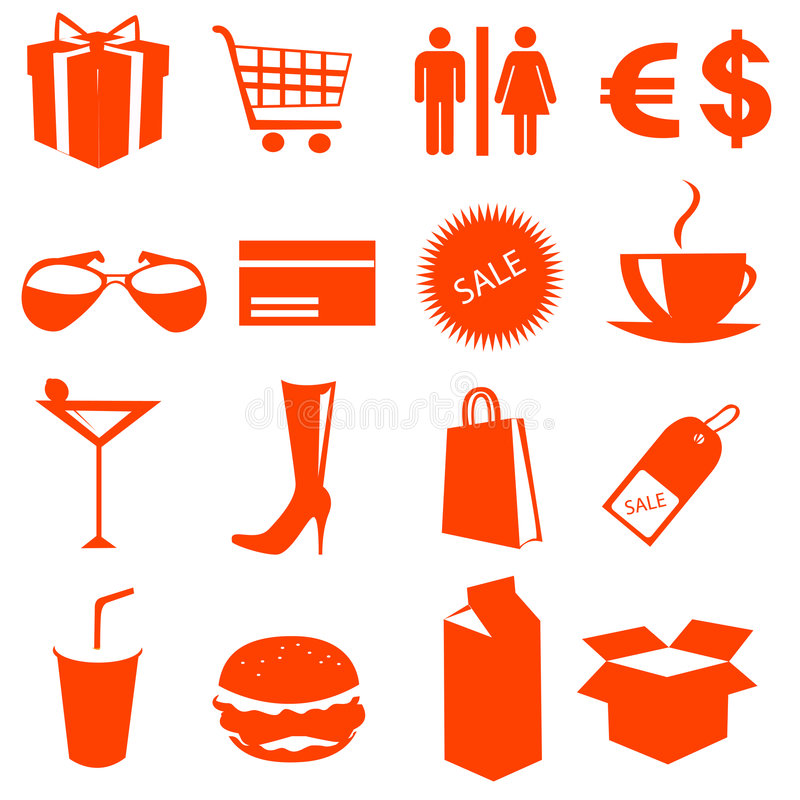 Download Shopping icons vector stock vector. Image of register - 7334030