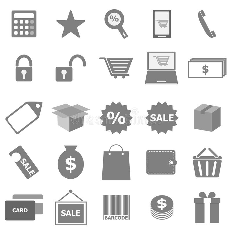 Download Shopping Icons On White Background Stock Vector - Image: 33551312