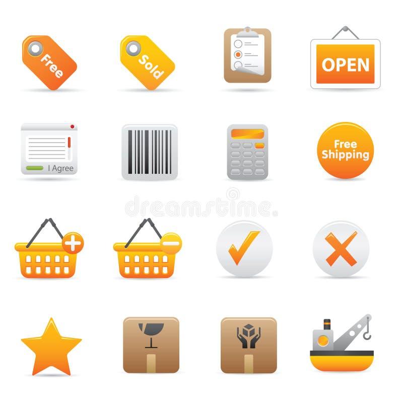 Shopping Icons   Yellow 14 stock illustration