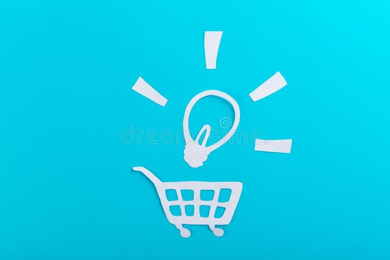 Shopping idea concept image. Cartoon style stock photo